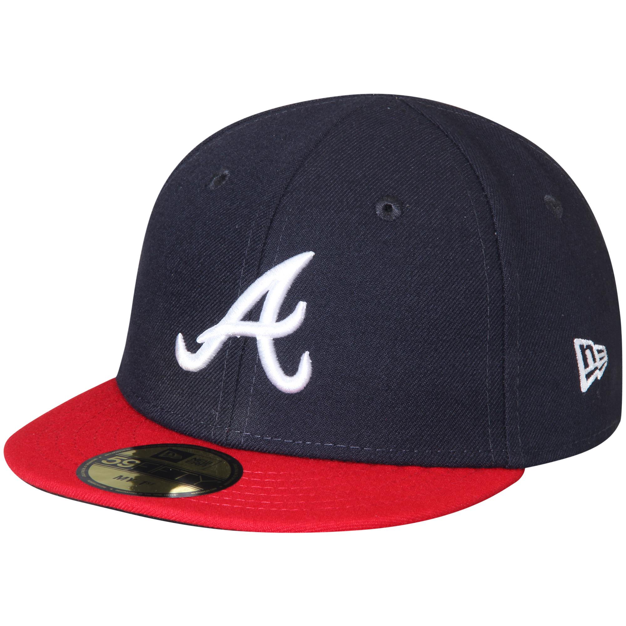 Atlanta Braves New Era Infant Authentic Collection On-Field My First 59FIFTY Fitted Hat - Navy - 6