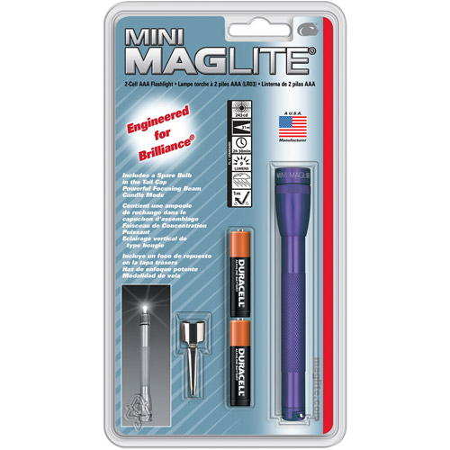 Mini Maglite AAA Blister Gray PewterFLSL