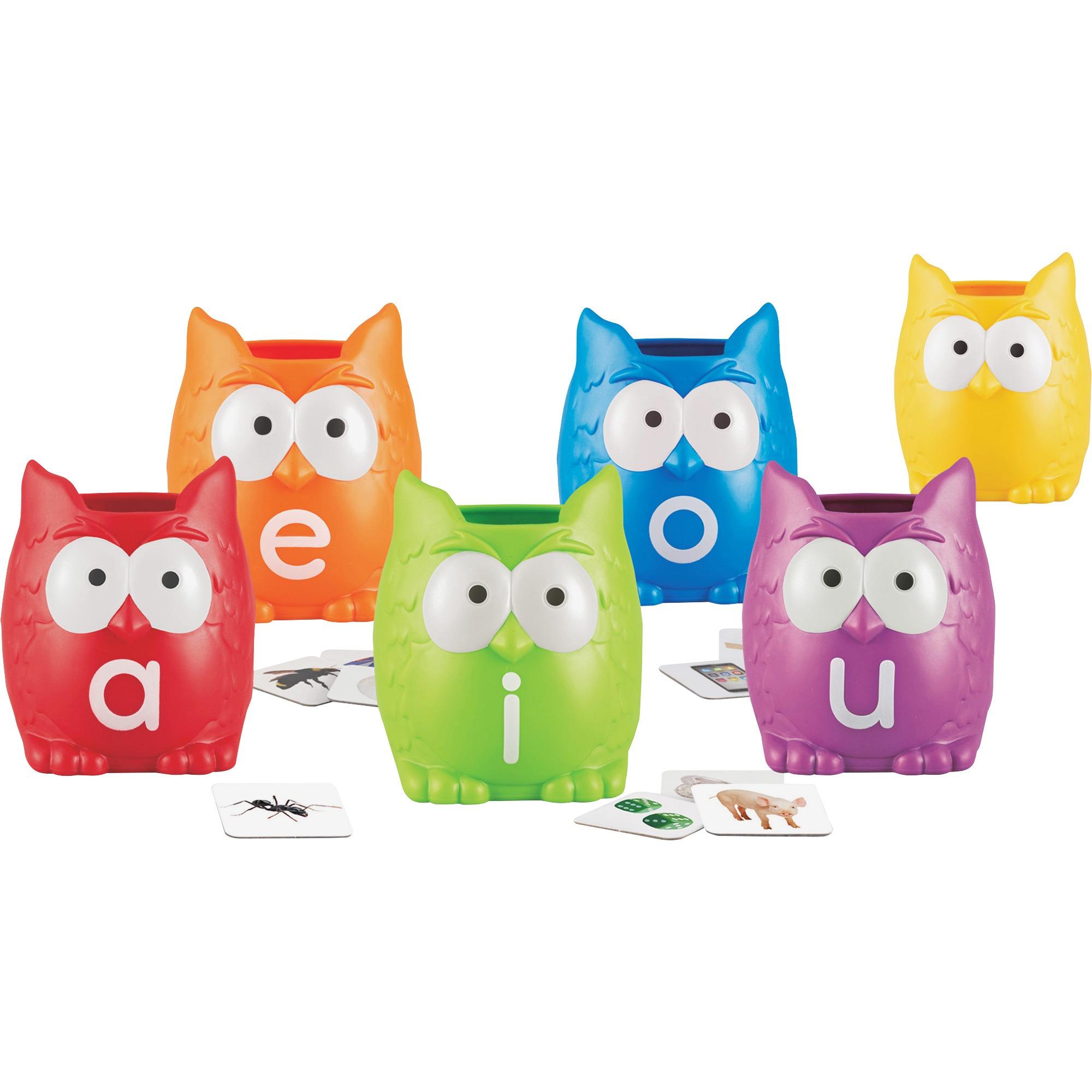 Learning Resources, LRN5460, Vowel Owls Sorting Set, 1 Set, Assorted