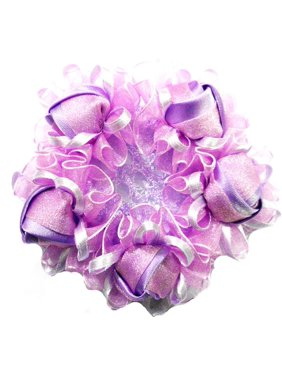 Wenchoice Girl's Purple Rose Bun Cover One Size