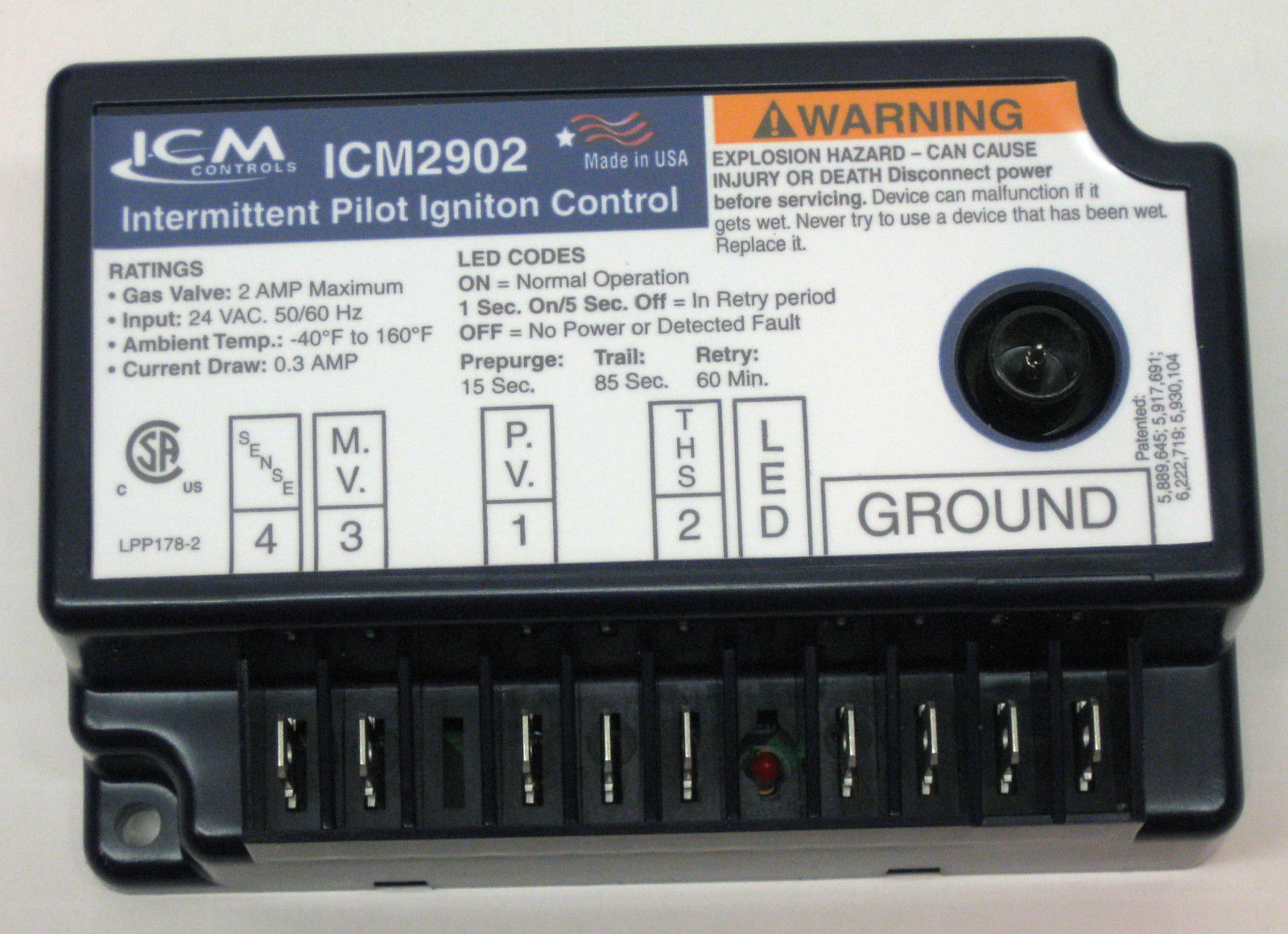 Icm2902 Icm Pilot Ignition Gas Control Board For Johnson G776rgd 14 Circuit Wiring Diagram Lennox 30w33