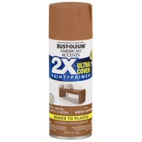 2-Pack Value - Rust-oleum american accents ultra cover 2x satin warm caramel spray paint and primer in 1, 12 oz