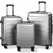 3PCS Luggage Set Expandable Suitcase PC+ABS Spinner W/TSA Lock 20'' 24'' 28'' BlueGreen