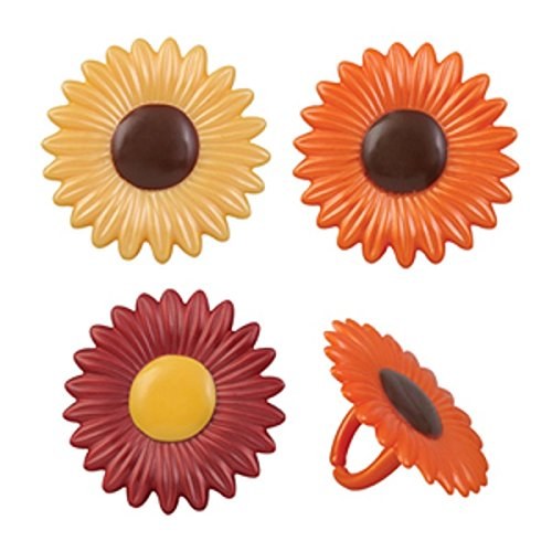 Oasis Supply Fall Daisy Cupcake/Cake Decorating Rings, 1 1/2-Inch, Set of 12