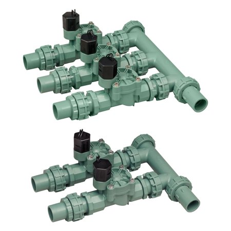 (Orbit 3 Valve Preassembled Sprinkler Irrigation Manifold with 2 Valve Manifold)