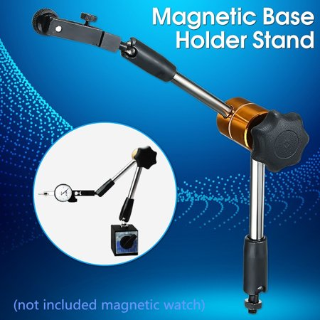Dial Indicator Magnetic Base (Universal Magnetic Metal Base Holder Stand Dial Test Indicator Flexible Tool Kit)