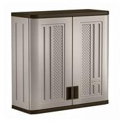 "Suncast 30""W x 12""D x 30.25""H Resin Wall Garage Storage Cabinet, Gray"