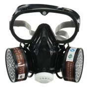 Industrial Gas Mask Half Face Painting Spraying Respirator Safety Work Filter Dust Mask Dust Proof
