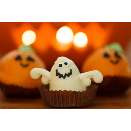 Laminated Poster Ghost Dessert Halloween Holiday Orange Sweet Food Poster Print 11 x 17 - Halloween Finger Foods Desserts