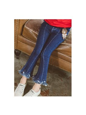 Kids Girls Adorable Bell Bottom Style Jeans
