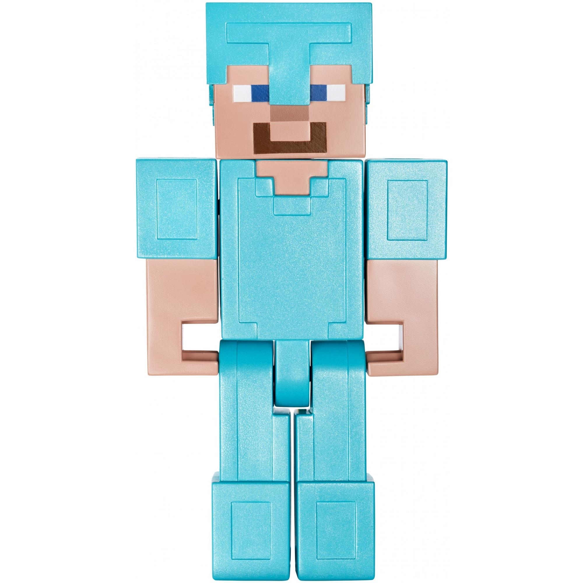 Minecraft Steve In Diamond Armor Large Scale Figure Walmart Com