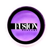 Fusion Body Art Pro Face Paint | Prime Fresh Lilac (32gm), Professional Quality Water Activated Face & Body Paint Supplies - Single Makeup Cake – Hypoallergenic, Non-Toxic, Safe, Vegan
