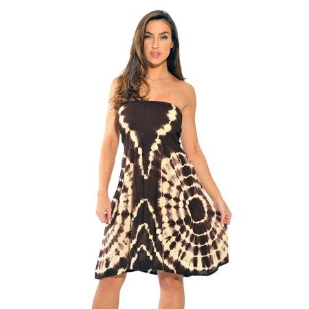 riviera sun 21612-bc-1x strapless tube short dress/summer dresses