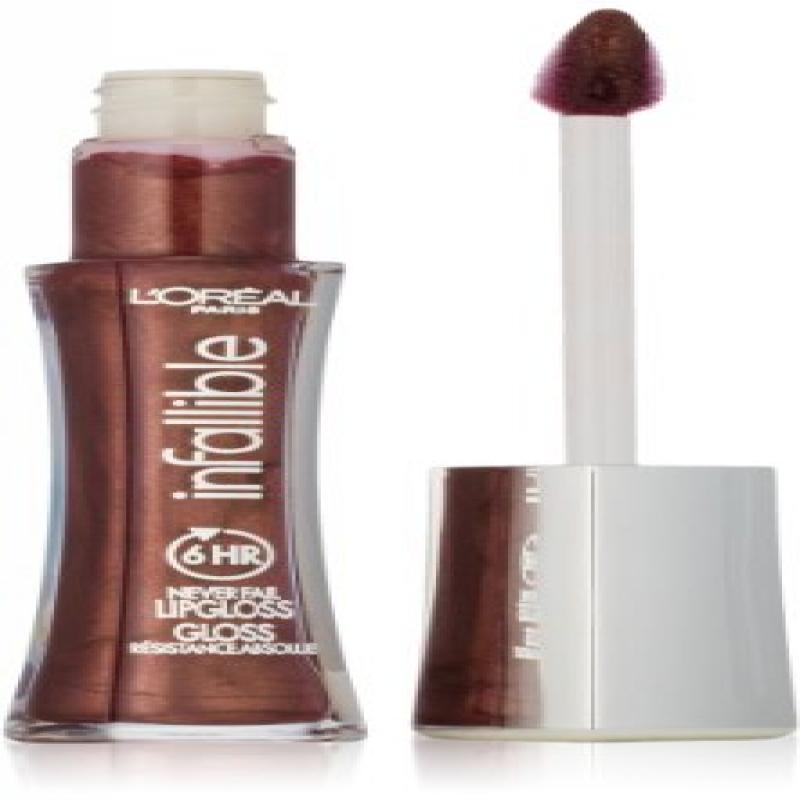 L'Oreal Paris Infallible 8HR Le Gloss, Raisin, 0.21 Ounces