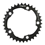 Eclypse, Glide-Pro 110, 38T, 8-10sp, BCD: 110mm, 5 Bolt Inner Chainring, Alloy, Black