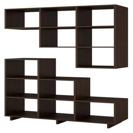 Manhattan Comfort Cascavel Stair Cubby Modular Bookcase - Set of 2 ()