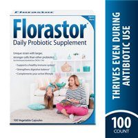 Florastor Daily Probiotic Supplement, 100 Capsules