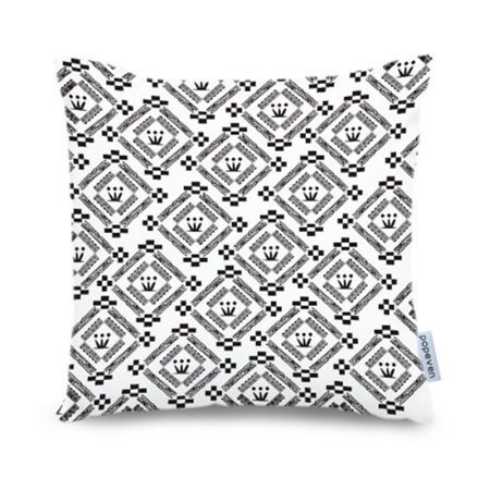 Tayyakoushi Contemporary Black Circle Diamonds Square Accent Decorative Throw Pillow Case Cushion Cover