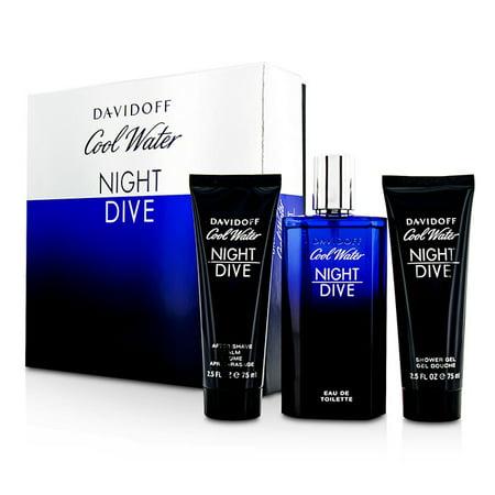Cool Water Night Dive Coffret: Eau De Toilette Spray 125ml/4.2oz + After Shave Balm 75ml/2.5oz + Sho