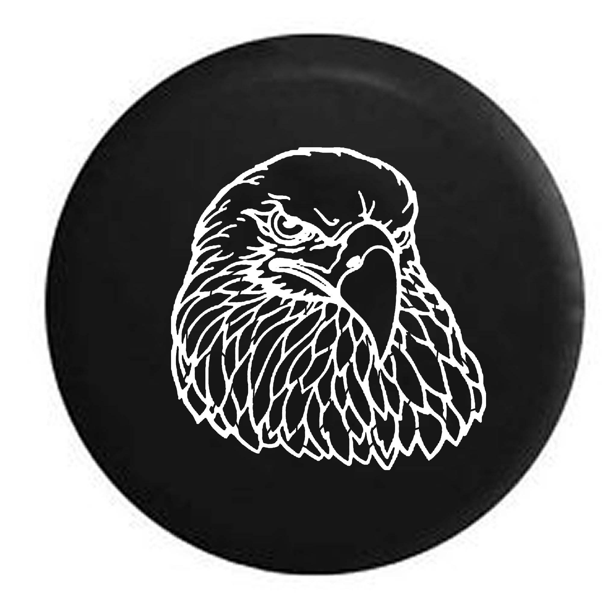 American Eagle Patriotic Spare Tire Cover Vinyl Black 33 in