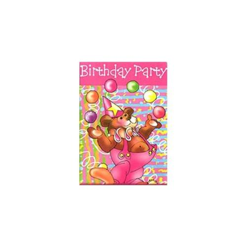 Bulk Buys Juggling Bear Birthday Invitations - Case of 12