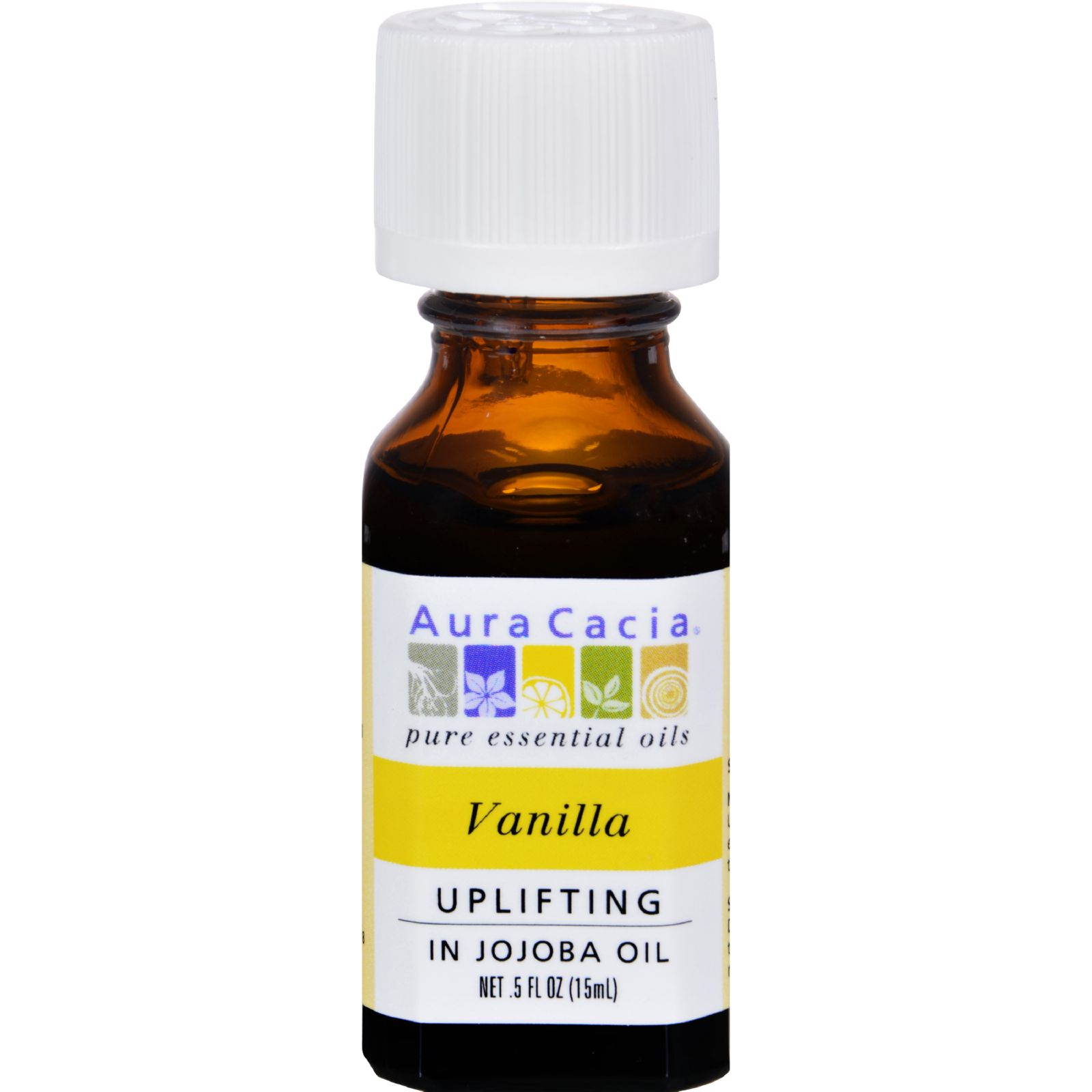 Aura Cacia Vanilla Essential Oil with Jojoba Oil .5 Fl oz.