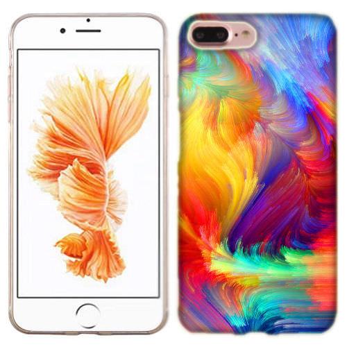 MUNDAZE Feather Paint Case Cover For Apple iPhone 8 PLUS
