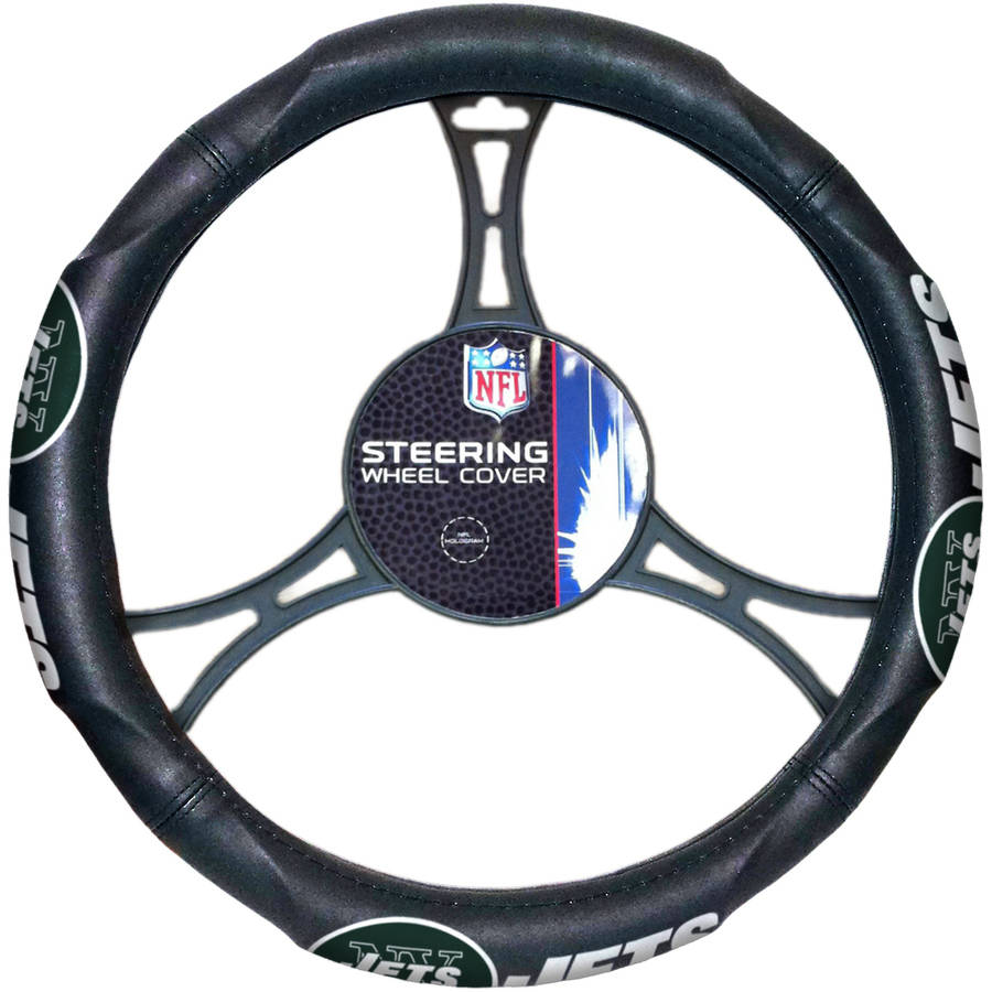 NFL New York Jets Steering Wheel Cover