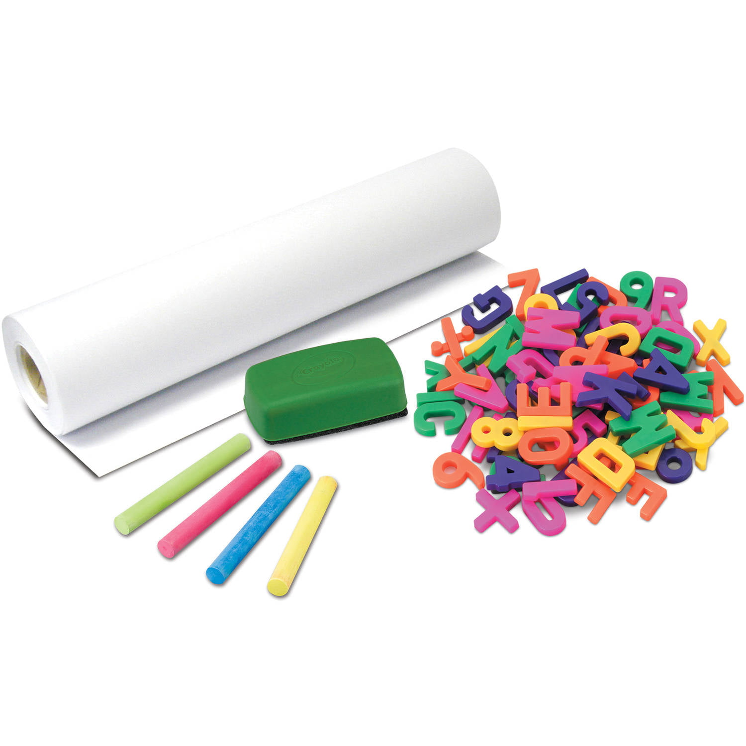 crayola 83 piece bundle set magnets chalk and paper walmart com