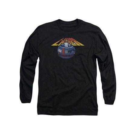 Atari Arcade Lunar Lander Game Lander Globe Design Adult Long Sleeve T-Shirt