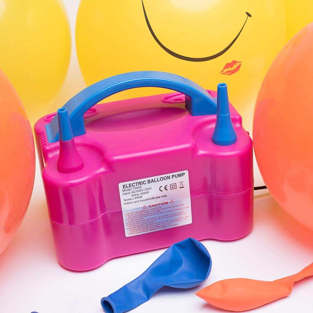 Electric Balloon Pump Portable Latex Balloon Inflator with Manual and Automatic Modes, Air Pump for Balloons