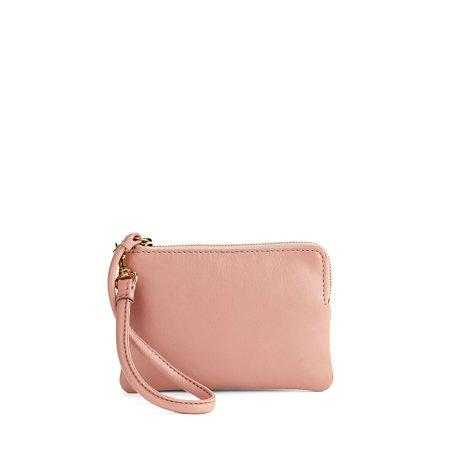 Small Leather Wristlet (Betsey Johnson Handbags Red)