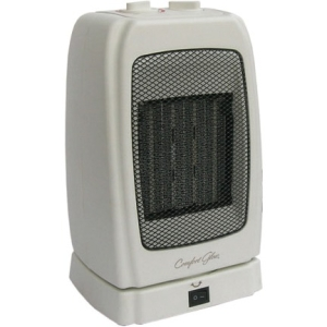 Comfort Glow CEH255 Convection Heater - Ceramic - Electric - 1300 W to 1500 W - 3 x Heat Settings - Portable - Bone