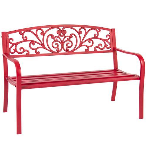 """BCP 50"""" Patio Garden Bench Park Yard Outdoor Furniture Steel Frame Porch Chair"""