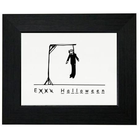 Funny Hangman Halloween Dead Stick Figure Framed Print Poster Wall or Desk Mount Options for $<!---->