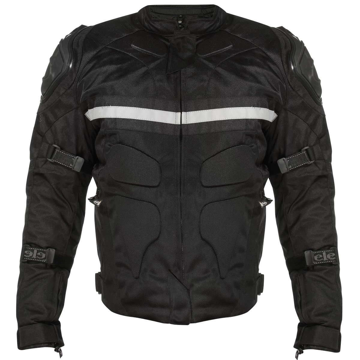 Xelement CF751 Mens Black Tri-Tex Motorcycle Jacket with Level-3 Armor