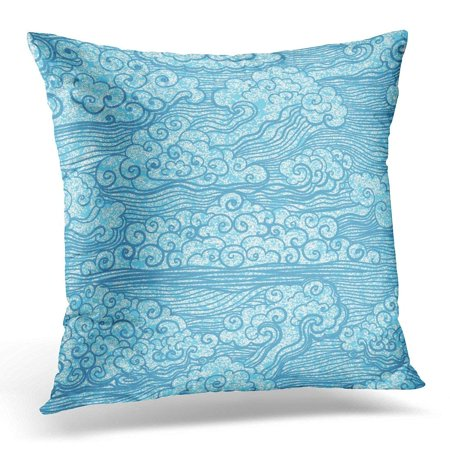 ARHOME Japanese of Blue Sky with Clouds Abstract Grunge 10 Chinese Throw Pillow Case Pillow Cover Sofa Home Decor 16x16 Inches