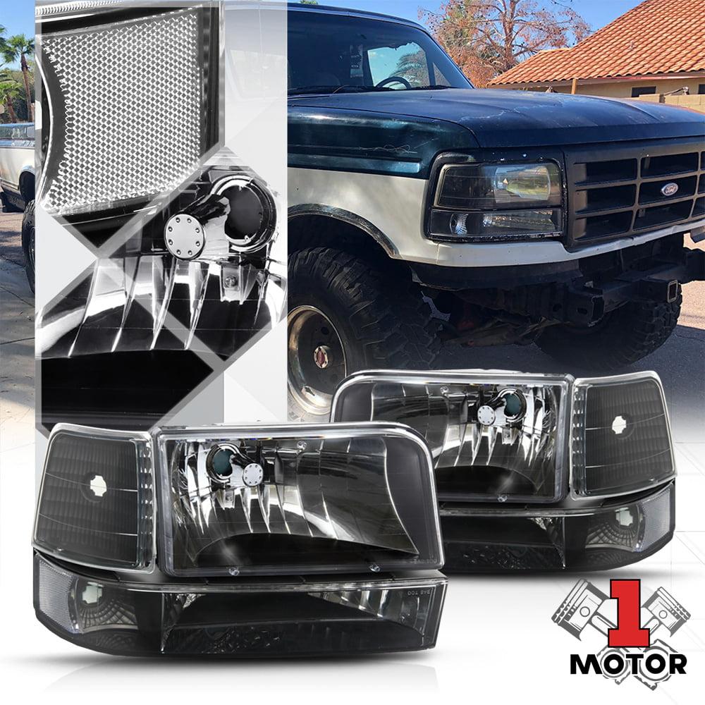 92-96 Ford F-150 Bronco F150 Headlights Clear 93 94 95
