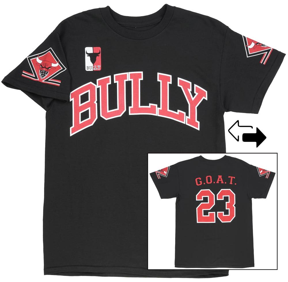 Chicago Bulls Parody T-Shirt Bully Basketball GOAT 23 Mens Black