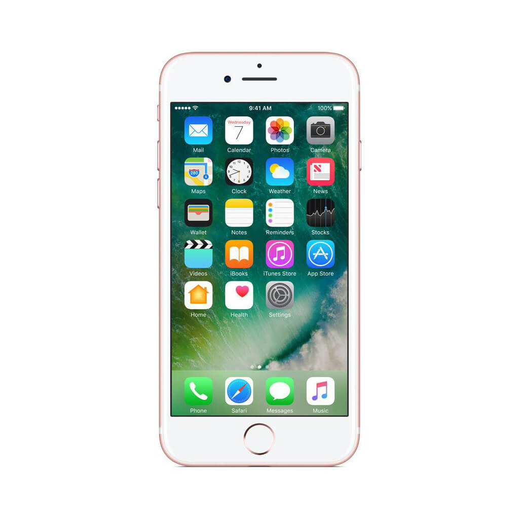 """Refurbished Apple iPhone 7 128GB 4.7"""" AT&T A1778 Cell Phone Smartphone - Rose Gold MN9L2LL/A"""