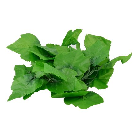 Leaf Wall Hanging - Party Wall Plastic Simulated Grape Leaf Vine Hanging Decor 2 Meter Long Green