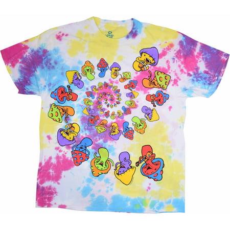 5b9770bac55 New World Sales - Spiral Mushroom Men s Tie Dye Graphic Tee - Walmart.com