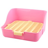 Indoor Plastic Rectangle Mesh Style Pet imitated rabbit Dog Cat Toilet Potty Yellow Pink