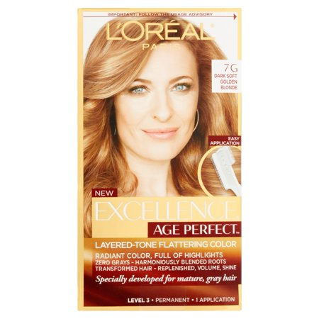 L'Oreal Paris Age Perfect Permanent Hair Color, 7G Dark Natural Golden Blonde, 1