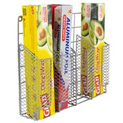 Over the Cabinet Vinyl Coated Steel Wrap Organizer, Silver