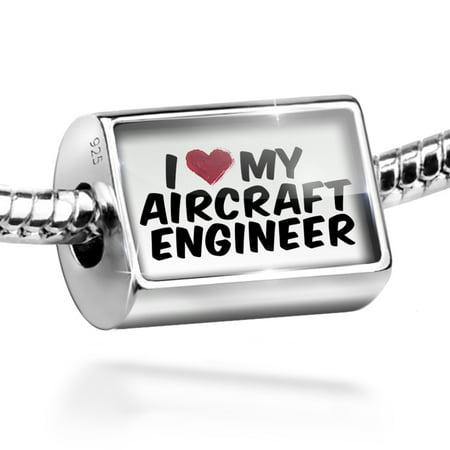 Bead I Heart Love My Aircraft Engineer Charm Fits All European Bracelets