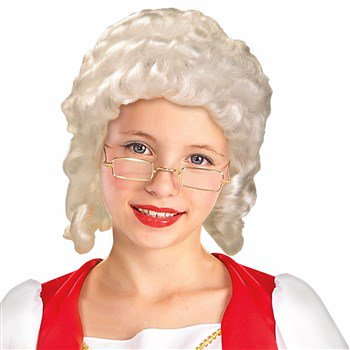 Colonial Halloween Costumes Adults (Colonial Girl Wig Adult Halloween Costume)