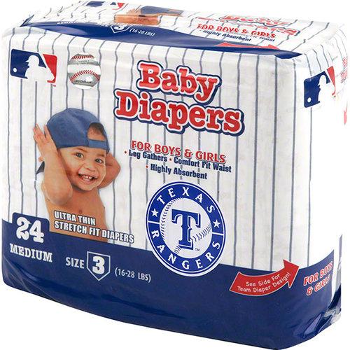MLB - Texas Rangers Baby Diaper Pack