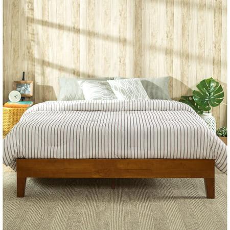 Zinus Deluxe Solid Wood Platform Bed  Cherry. Zinus Deluxe Solid Wood Platform Bed  Cherry   Walmart com