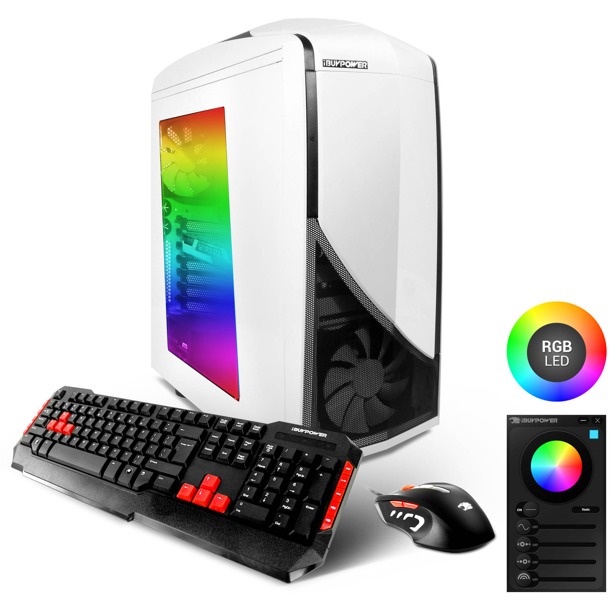 Refurbished iBuyPower WMO3 Gaming Desktop PC with Intel Core i5-6402P Processor, 8GB Memory, 1TB Hard Drive, 120GB Solid State Drive and Windows 10 Home (Monitor Not Included)
